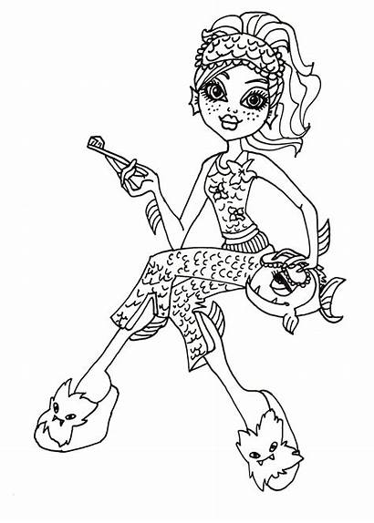 Coloring Monster Lagoona Pages Pets Printable Sheets