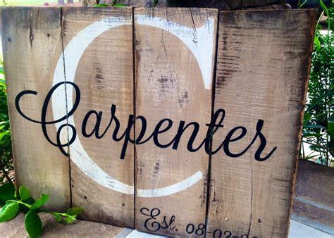 est date rustic wooden sign
