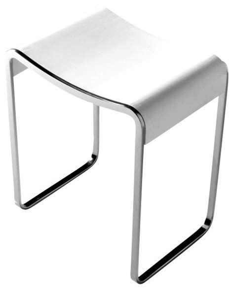 contemporary vanity chairs for bathroom adm adm matte white resin bathroom stool vanity