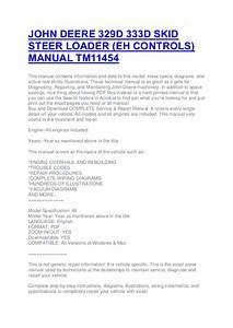 John Deere 329 D 333d Skid Steer Loader  Eh Controls