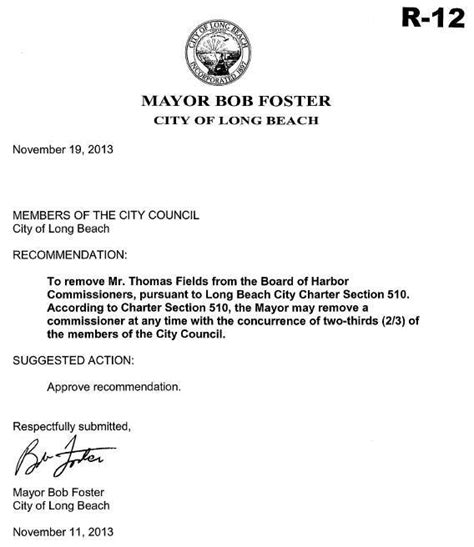 mayor foster agendizes item seeking council approval