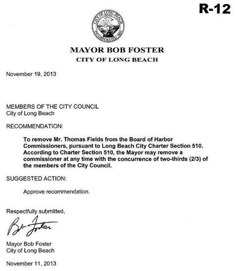mayor foster agendizes item seeking council approval