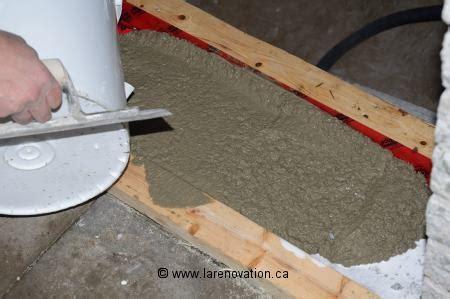 faire un seuil de porte coffrage bois pour escalier beton escalierstore