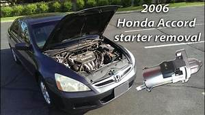 2006 Honda Accord Starter Removal
