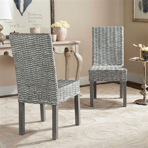 safavieh wheatley rattan dining side chair