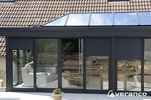 coffre et volet roulant integre dans votre veranda With store exterieur veranda prix