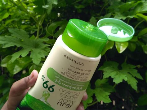 the shop jeju aloe fresh soothing gel review