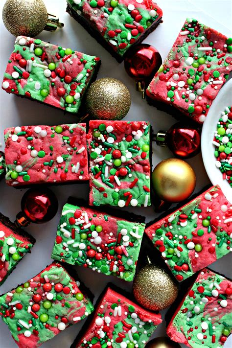 white chocolate peppermint christmas brownies  monday box