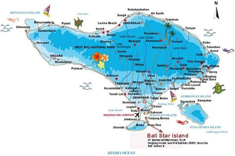 indonesia map tourist attractions travelquazcom