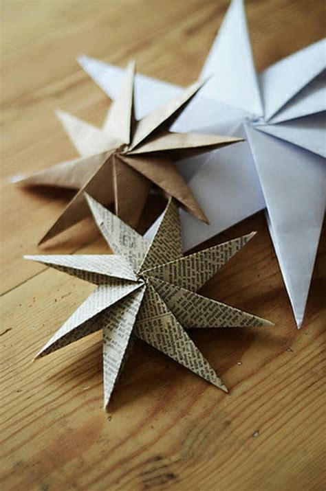christmas paper star decorations ideas   char