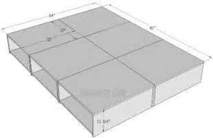Queen Platform Storage Bed 6 Drawers