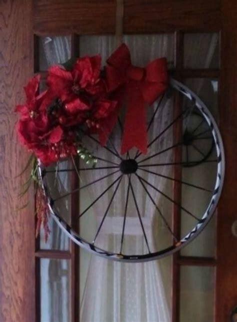 bicycle wheel wreath  images winter wreath diy