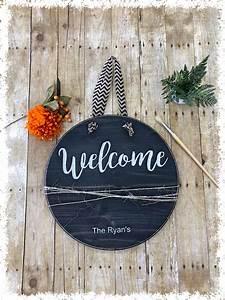 Round, Welcome, Sign, U2013, The, Crafty, Nest, Diy