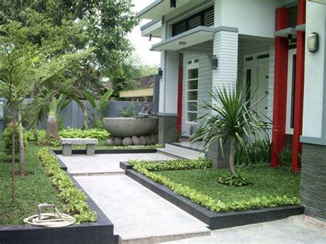 lanskap taman depan rumah taman minimalis desain