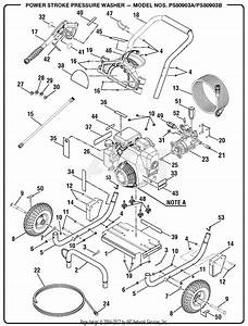 Homelite Ps80903a Pressure Washer Parts Diagram For