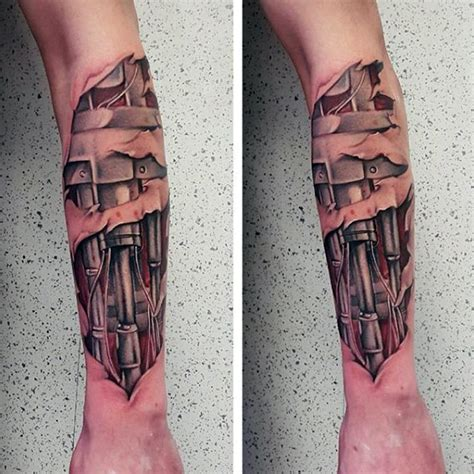 terminator tattoo designs  men manly mechanical