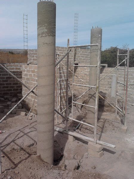foto columnas de concreto de arquitectura sustentable