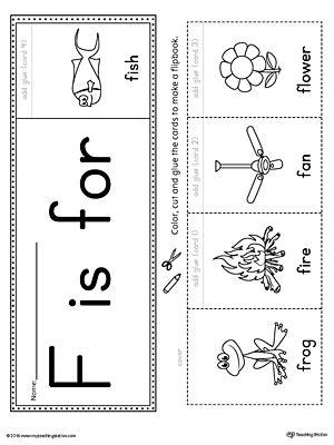 letter f beginning sound flipbook printable