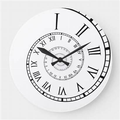 Roman Numeral Spiral Clock Zazzle Numerals