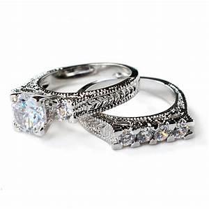 cz ring cz wedding ring cz engagement ring wedding ring With fashion wedding ring sets