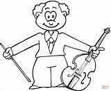 Coloring Musician Viola Printable Jazz Musicians Guitar Drawing sketch template