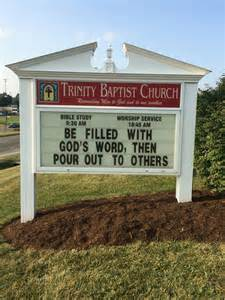 Marquee Church Sign Sayings