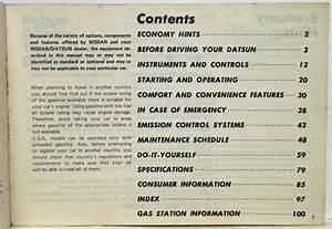 1980 Datsun 210 Series Owners Manual