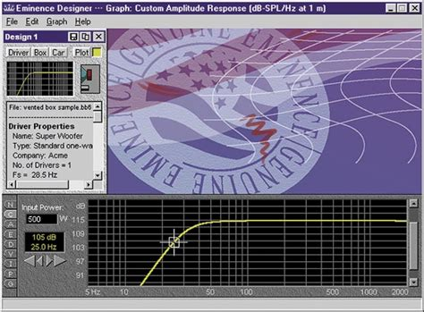 Speaker Cabinet Design Software Free by Emnsoft Eminence Cd Rom Loudspeaker Cabinet Designer