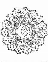 Coloring Pages Sun Moon Mandala Getcolorings sketch template