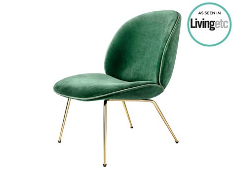 gubi velvet beetle lounge chair by gamfratesi chaplins