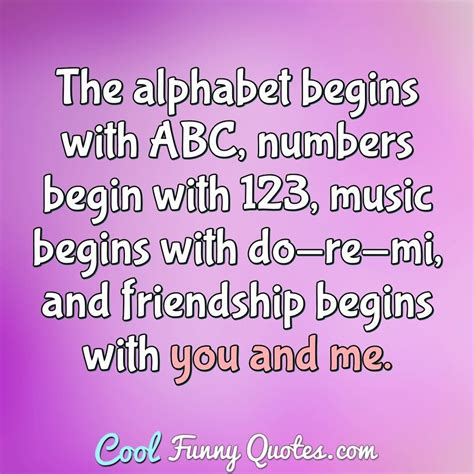 alphabet begins  abc numbers