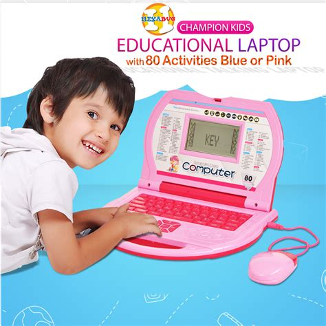 buy chion kids educational laptop with 80 activities