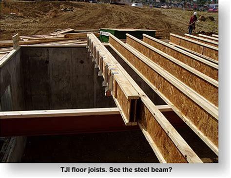 truss joists on steel beam