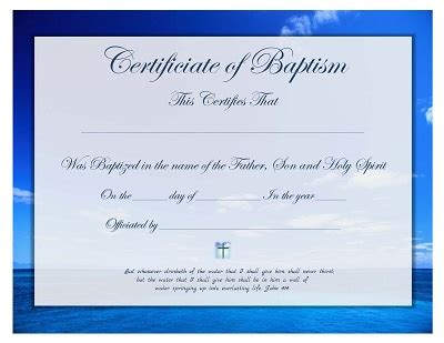Baptism Certificate Template Free by Free Printable Baptism Certificate Template Prayers