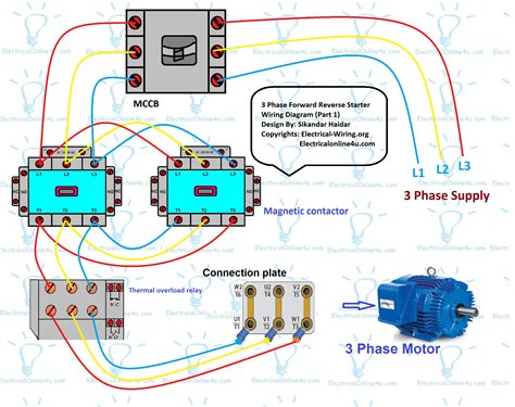 forward motor circuit diagram 3 phase
