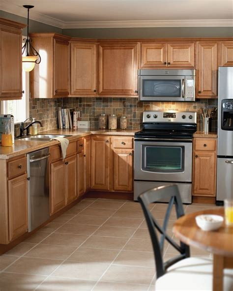 Kitchen Cabinets Home Depot by These Gorgeous Cambria Kitchen Cabinets In Harvest Are