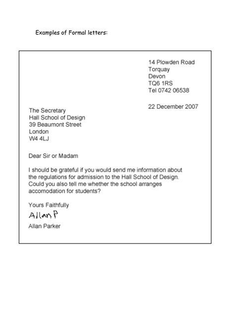 formal letter envelope format business  sample