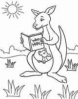 Kangaroo Coloring Pages Cartoon Ones Fun sketch template