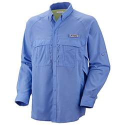 Columbia PFG Long Sleeve White Shirt
