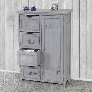 Kommode Grau Vintage : kommode schrank 82x55x30cm shabby look vintage grau ~ Michelbontemps.com Haus und Dekorationen