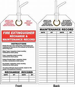 Fire extinguisher maintenance and inspection internachi for Fire extinguisher inspection tag template