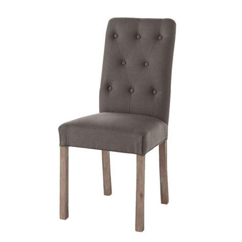 chaise capitonnée grise chaise capitonnee grise