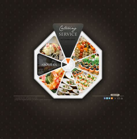 catering service video gallery template  website