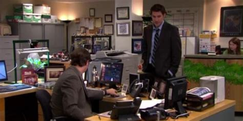 Dwight Standing At His Desk by So Jim Flipped The Script And Created Desk Where
