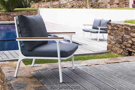 canapé teck jardin stunning salon canape de jardin en teck photos amazing