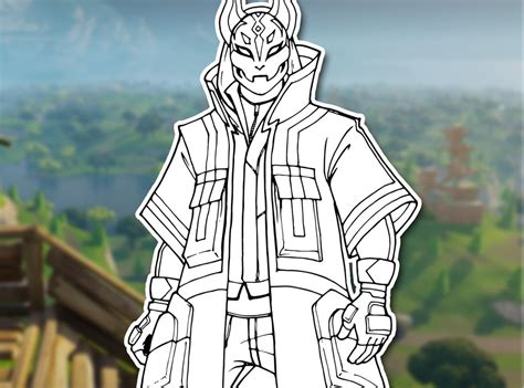 Fortnite Max Drifta0 Free Coloring Pages