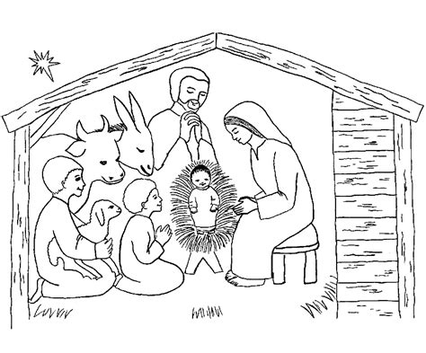Kerststal Kleurplaat Olwassen by Kerst Kleurplaat Kerststalletje