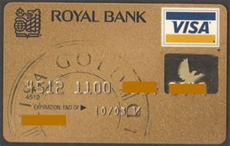 bank card rbc visa gold  royal bank  canada canada