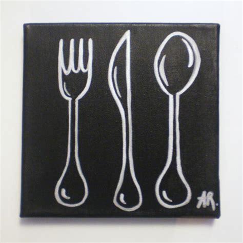cuisine acrylique tableau avec peinture acrylique déco cuisine silver cook