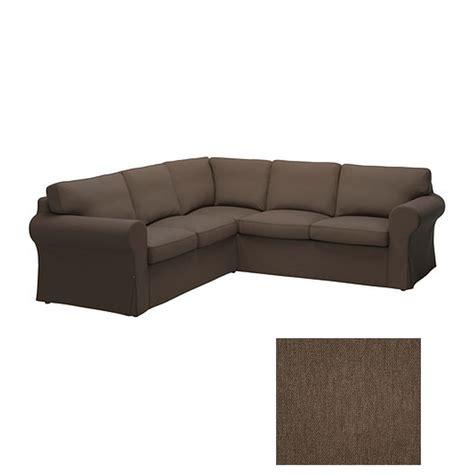 ikea ektorp 2 2 corner sofa cover slipcover jonsboda brown